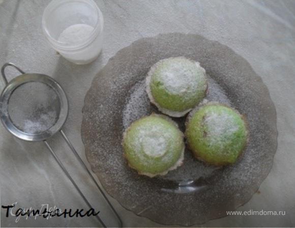 Зеленые маффины с чаем матча