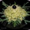 Салат из зеленой редьки с руколой
