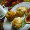 """Фруктовые кексы с лимонной глазурью и печенье """"Золотистое"""" с овсяными хлопьями"""