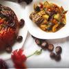 Осенний ноктюрн.Тыква, фаршированная овощами и курицей.