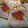 Свиные рулетики со сладким перцем и сыром.