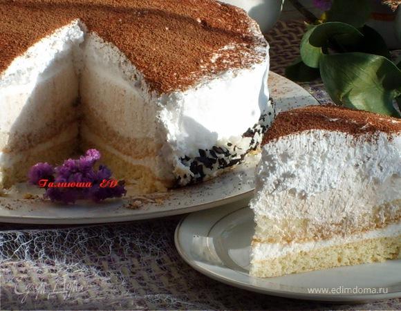 """Торт """"Нежность"""", с нежностью для команды """"ЕдимДома"""" и для моих друзей!"""