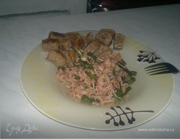 Тайский рис с мятой и мраморная говядина