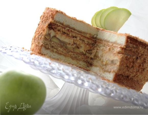 Фоторецепт яблочно-карамельного торта