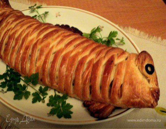 Пирог с рыбой «Золотая рыбка»
