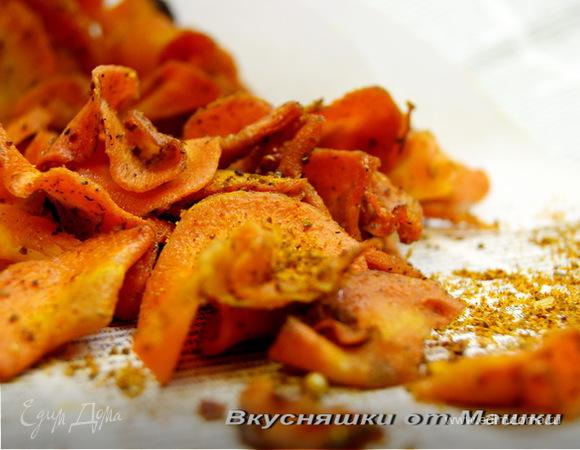 Морковные чипсы в духовке рецепт с фото