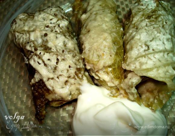 Мини-голубцы из савойской капусты