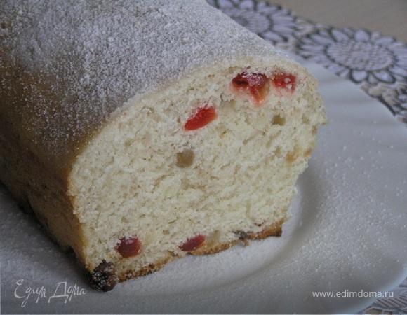 Десертный хлеб с изюмом и вишней