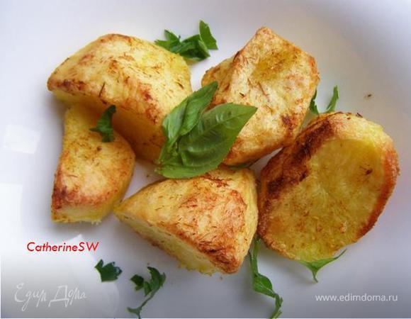 Запеченный картофель с шафраном