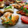 Мини-выпечка с овощами и маринованным сыром