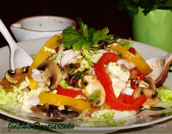 Салат из грибов с крабами