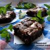 Мятный и чрезвычайно шоколадный брауни:)