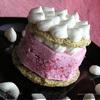 Фисташковое пирожное с брусничным семифредо