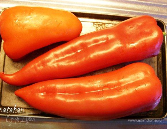 Салат из печёных перцев
