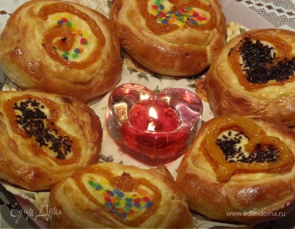 Ватрушечки'' Абрикосовое сердце'' ко дню Св.Валентина!