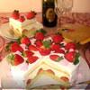 """Клубничный торт-суфле """"Поцелуй"""""""