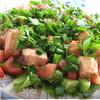 Летний салатик с лососем
