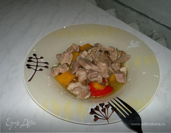 Рагу из овощей с бедром индейки