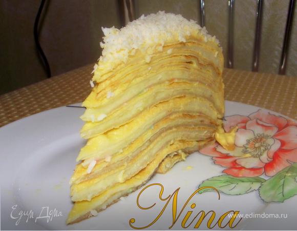 Блинный торт на белковых блинах