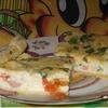 """""""Лжепицца"""" из двух сыров и зелёного лука"""