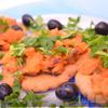 Ржаные лепешки с овощным рагу