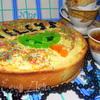 Творожно-персиковый пирог