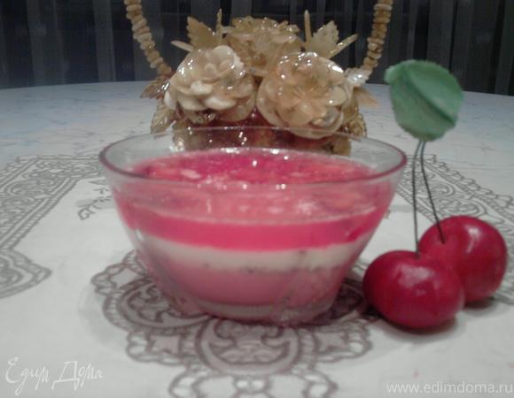 Сливочно-ягодное желе