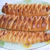 Косички со сливочным сыром и брусникой