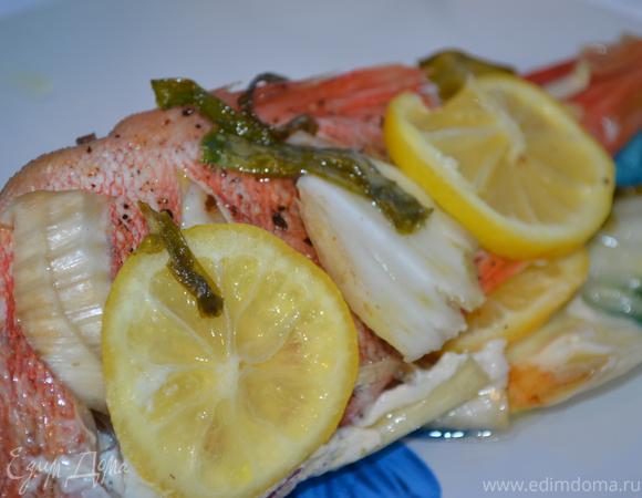 Рыбка с лимоном и фенхелем