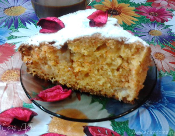 Морковно-яблочный пирог