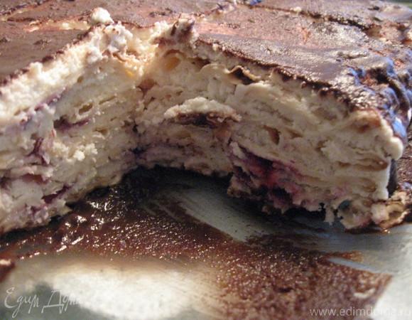 Творожный торт из мацы