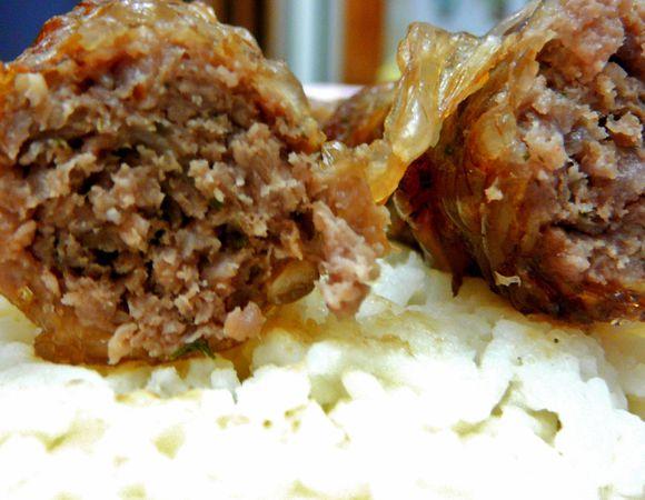 Кебаб из телятины в сальнике
