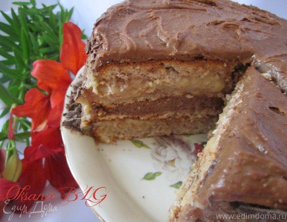 """Торт """"Шоколадно-карамельное счастье"""""""