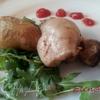 Шашлычки из курочки с молодой картошечкой и шампиньонами