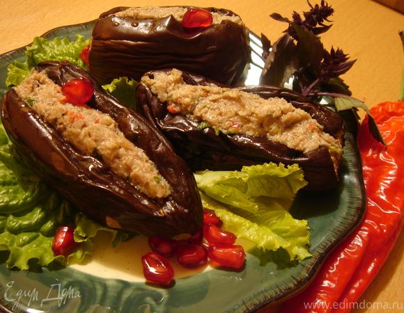 Маринованные баклажаны с ореховой начинкой
