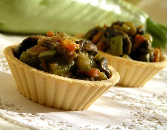 Тарталетки с начинкой из овощей и грибов