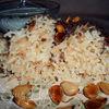 Рис по-ливански (с жареным фаршем и лепестками миндаля)