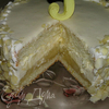 Лимонный торт с баварским муссом из белого шоколада