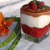 Малиновый десерт с шоколадом