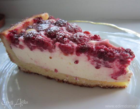 пирог с малиной с фото