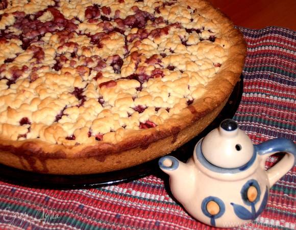 Песочный пирог с садовыми яблочками