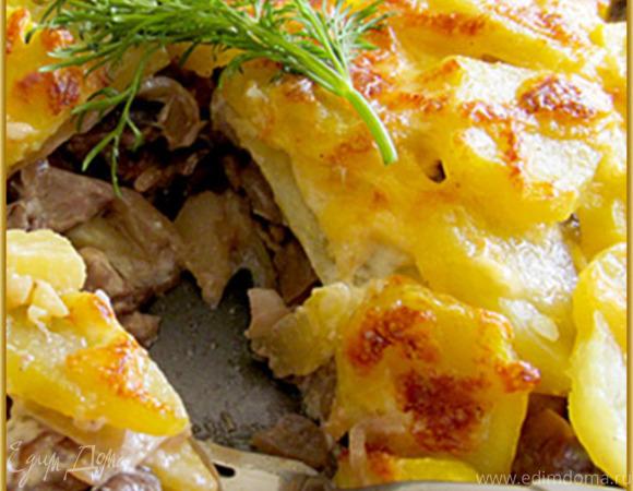 Картофель с грибами и сливками