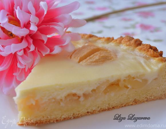 Заливной яблочный пирог рецепт с фото
