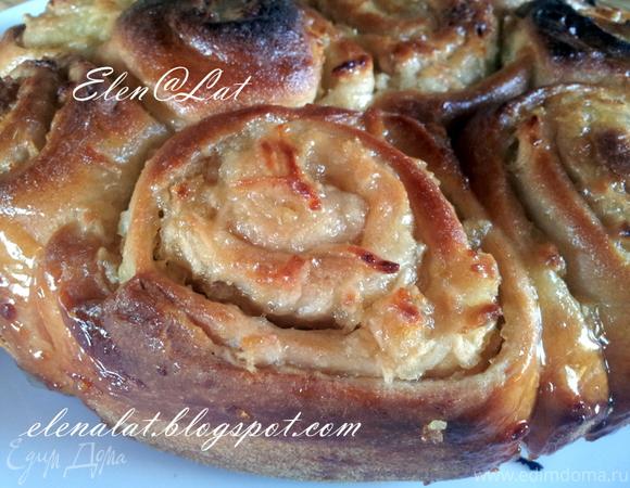 Рулетный яблочно-лимонный пирог