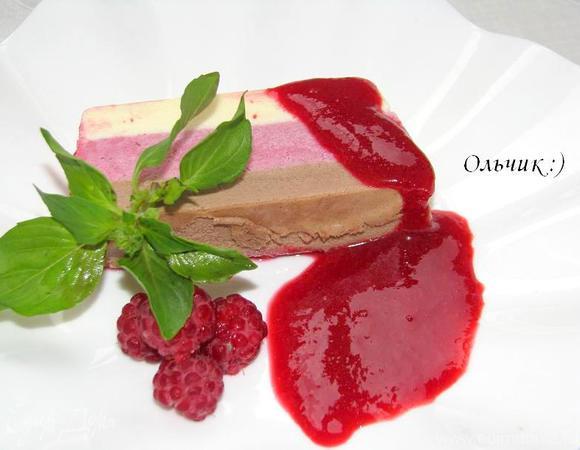 Баварский шоколадный крем с малиновым кули