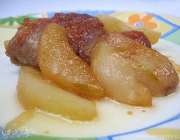 Курица с грушами в медовом соусе