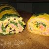 Закусочный яичный рулет с семгой