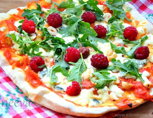 """Пицца """"Малина, рукола, фундук и сыр"""" + бонус (быстрый томатный соус для пиццы)"""