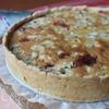 Пирог из песочного теста со сливами и ревенем