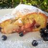 Яблочный пирог с малиновым вареньем и изюмом